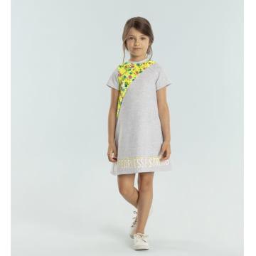Vestido Infantil Paetê Neon Mágico Petit Cherie