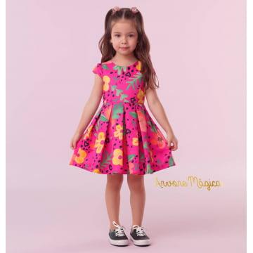 Vestido Infantil Pink Flower Mon Sucré