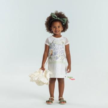Vestido Infantil Positive Energy Petit Cherie