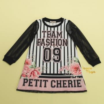 Vestido Infantil Team Fashion Petit Cherie