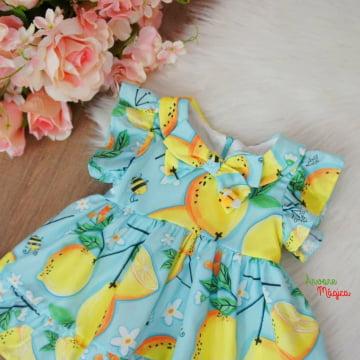 Vestido para Bebê Limão Siciliano Mon Sucré
