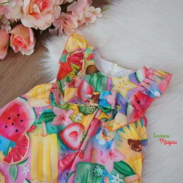 Vestido para Bebê Salada de Frutas Mon Sucré