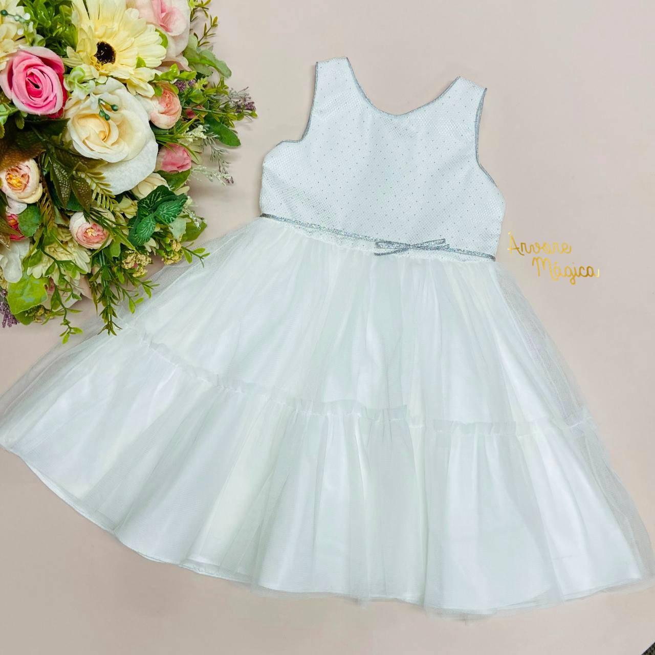 Vestido de Festa Infantil Valentina Tule Petit Cherie