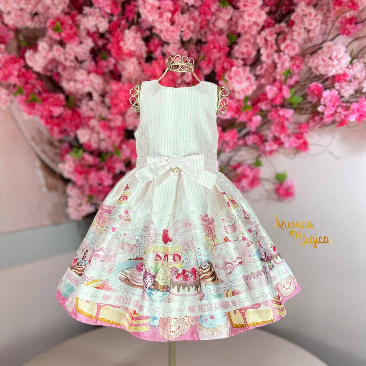 Vestido de Festa Infantil Doceria Petit Cherie