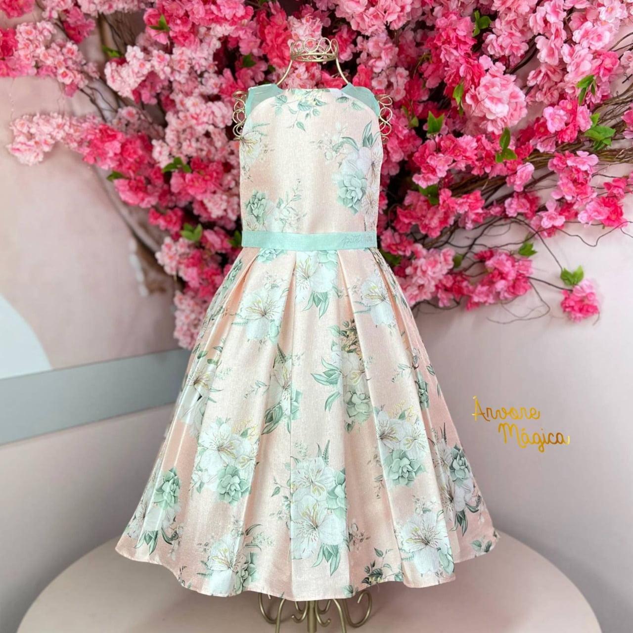 Vestido de Festa Infantil Flor de Lírio Petit Cherie