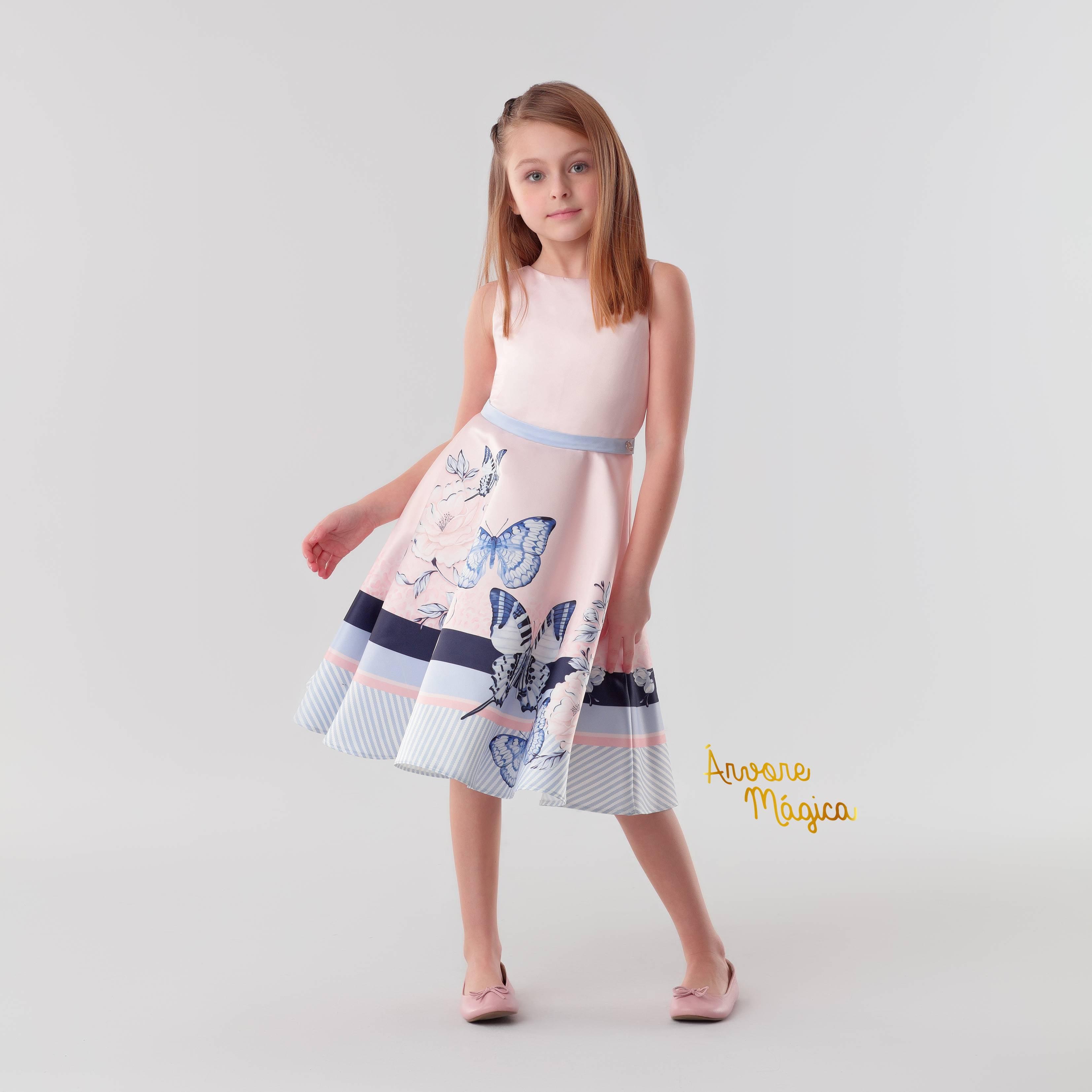 Vestido de Festa Infantil Jardim das Borboletas Petit Cherie