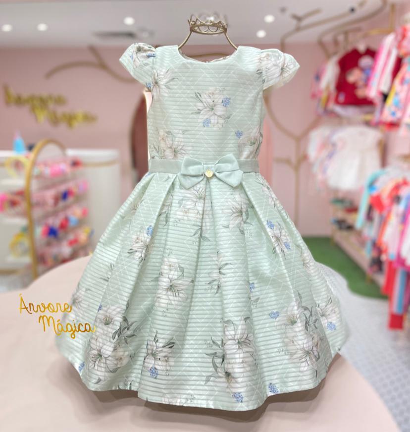 Vestido de Festa Infantil Lírios Petit Cherie