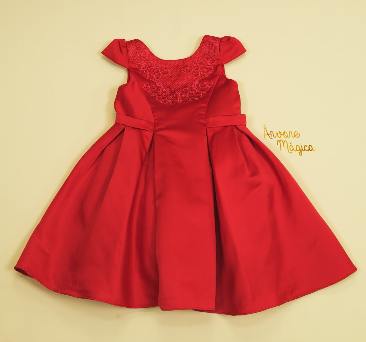 Vestido Infantil de Festa Luna Vermelho  Petit Cherie