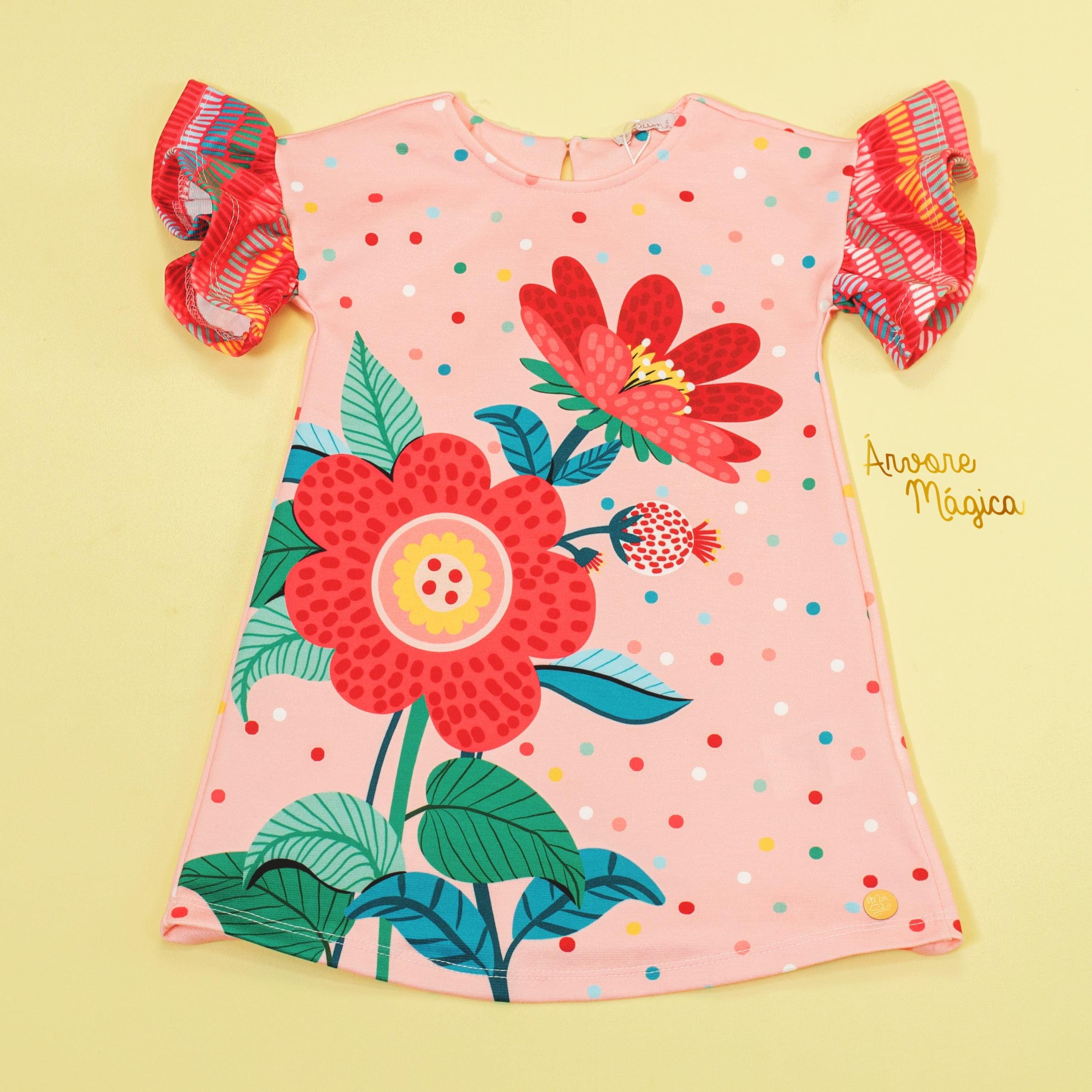 Vestido Infantil Florzinha Mon Sucré