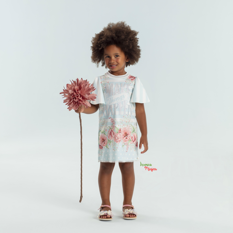 Vestido Infantil Make Things Happen Petit Cherie