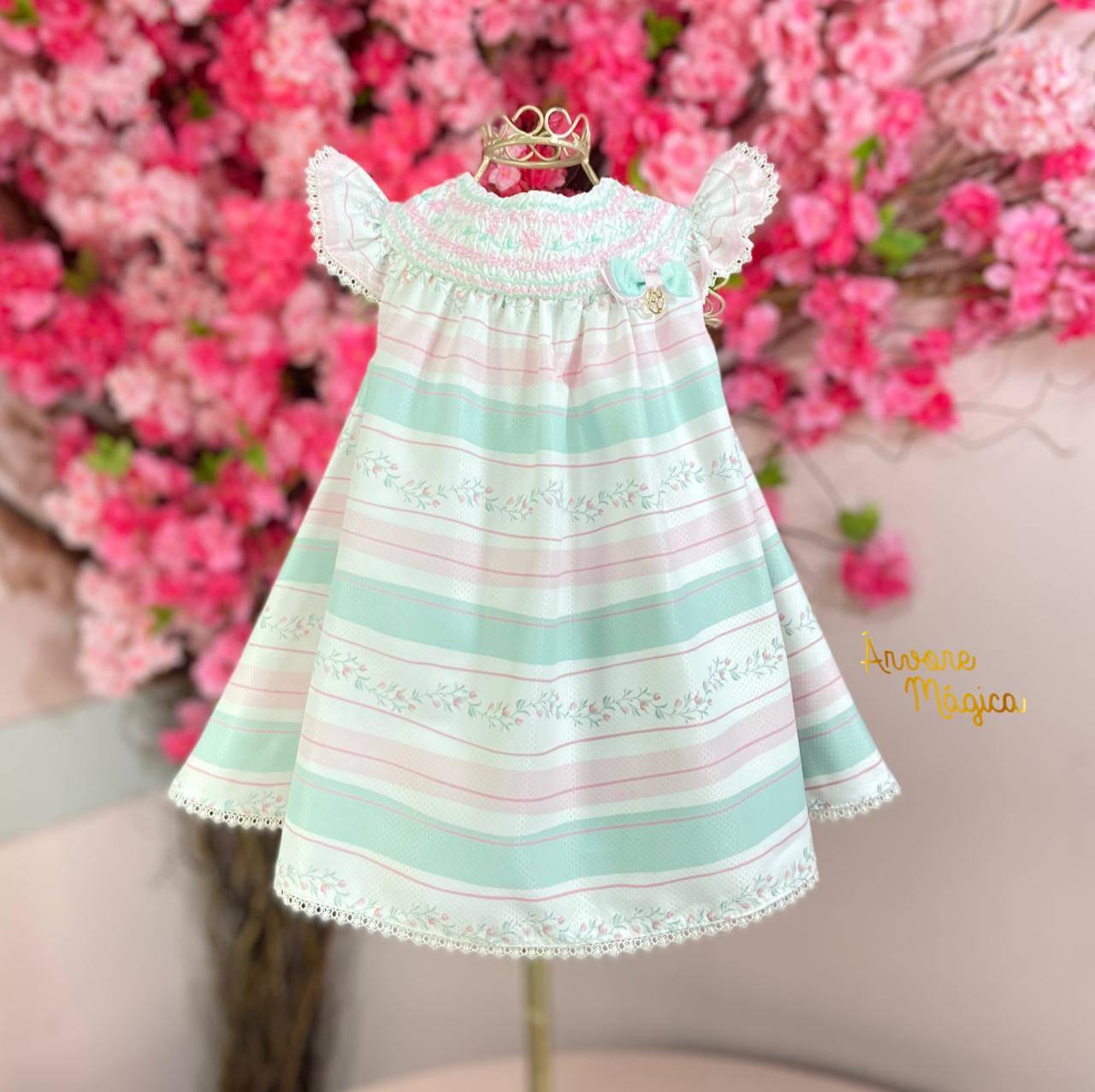 Vestido para bebê Ana Clara Petit Cherie