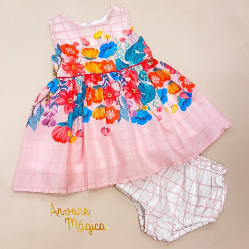 Vestido para bebê Jardim Floral Mon Sucré